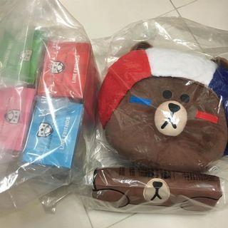 全新 McDonald's Line Friends 熊大 brown sally cony Choco tote bag 公仔 最後一套