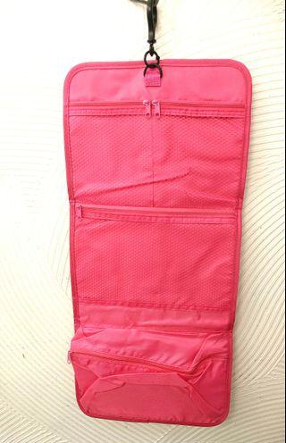 Shocking Pink Travel Accessories Bag 螢光粉紅 旅行輕便掛袋