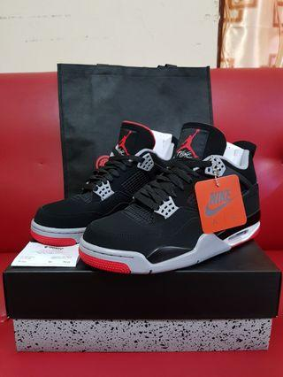 Original Nike Air Jordan 4 Retro Hi OG Bred
