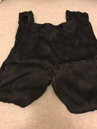 GIORGIO ARMANI Black silk pants