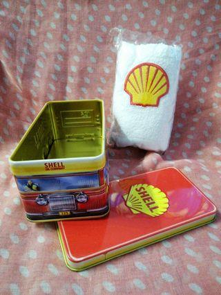 Shell Tin Canister