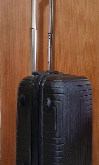 🚚 黑色17吋登機箱 2段式拉桿行李箱 輕型旅行箱 密碼鎖登機箱 兒童行李箱 四輪行李箱 小型旅行箱