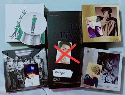 EXO official photocards lay, chen, kai, sehun