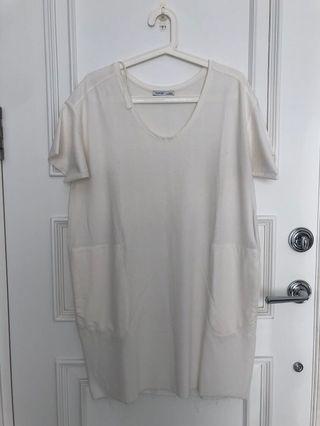 Zara white tshirt dress
