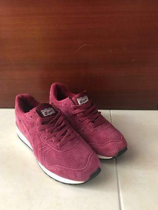 Onitsuka Tiger Red Velvety Sneakers Shoes Asics