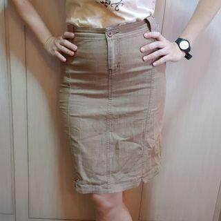 Brown denim mini skirt size S or size M