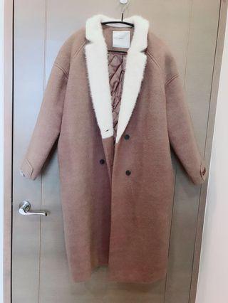 韓國Handmade羊毛鋪棉大衣