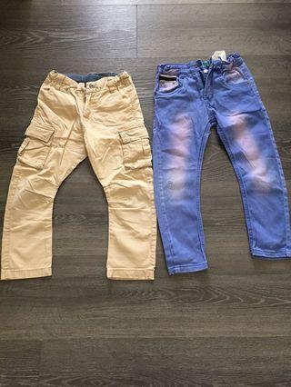 🚚 Zara boys beige pants 110cm