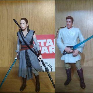 Hasbro Star Wars Force Link Rey, 送Obi-Wan
