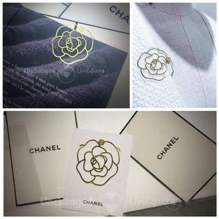 Chanel Metal Camellia Bookmark with interlocking CC in gold 金屬山茶花書籤限量禮品