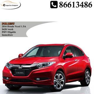 2016 Honda Vezel For Rent