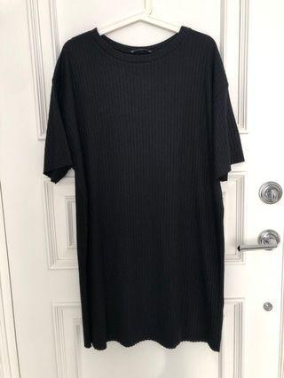 Zara black tee dress