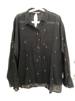 Zara navy shirt