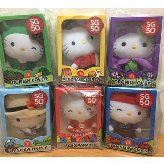 SG50 Hello Kitty Doll Plushies Limited Edition Set