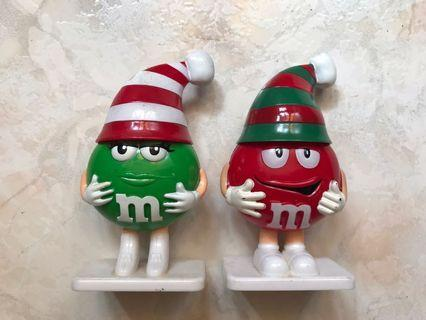 M&M Christmas Decoration Toy Figure