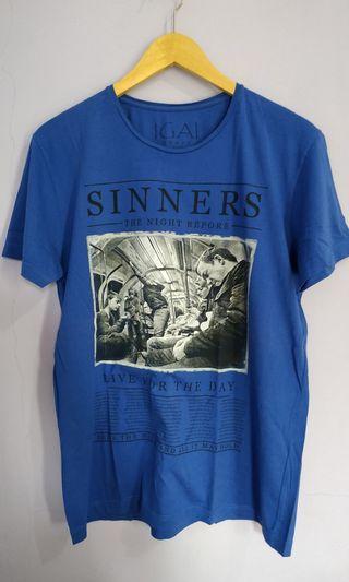 Sinners blue t-shirt