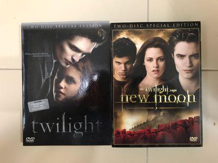 🚚 Twilight & New Moon DVD