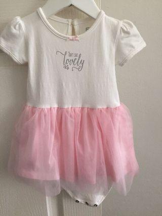 🚚 Fox pink tutu dress
