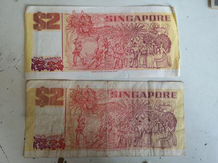 Old notes Singapore