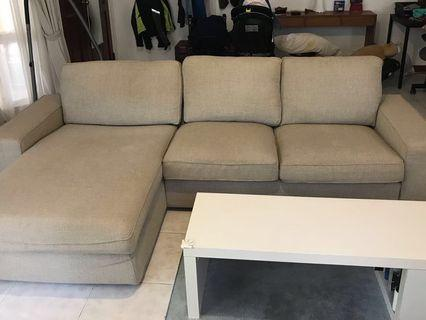 IKEA couch 3 seater with chaise lounge #homerefresh30