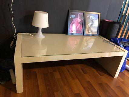 Ikea Coffee Table with glass