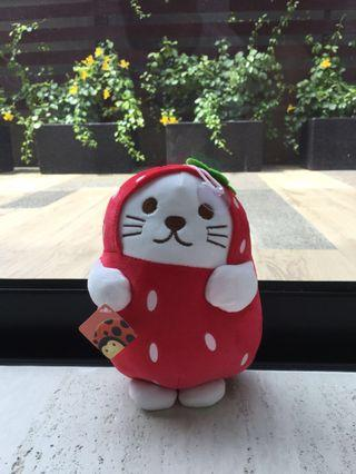 Cat Plush (Strawberry)