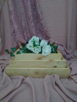 Box hantaran (box kayu, tutup akrilik)