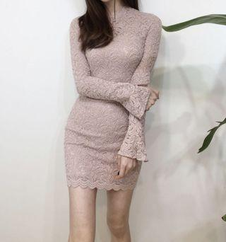 Bodycon dress baby pink