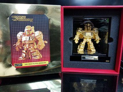 Grimlock Transformers 24K Gold Plated Limited Edition
