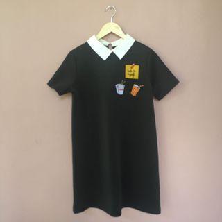 #BAPAU ZARA DRESS BLACK PATCHES