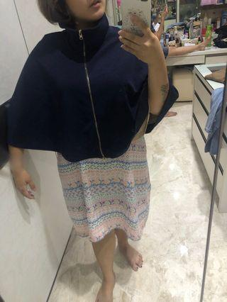 Navy glitter cape outer
