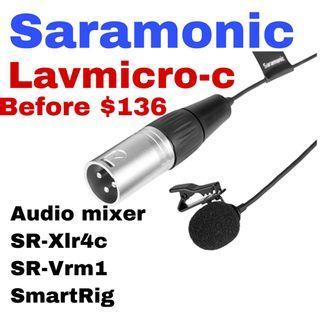 #Saramonic #XLavMic-C #XLR #Phantom #Powered #Lavalier #Microphone