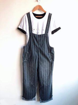 時尚吊帶褲(只有褲子)