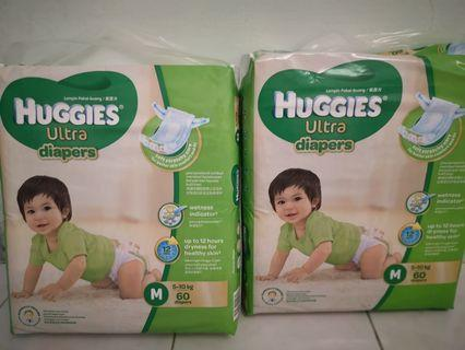 Huggies Ultra Diapers Tape (M size)