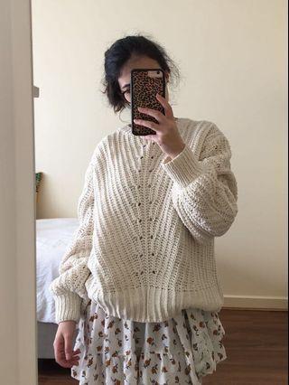 ✨ Cream Oversized Sweater