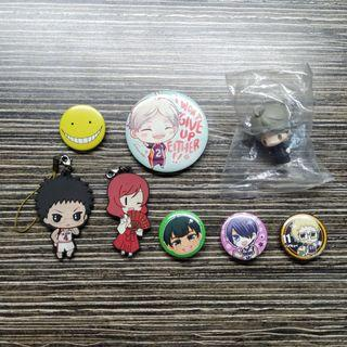 Anime Badges, Keychains, Figurines Merch