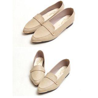 🚚 尖頭 平底鞋 紳士鞋