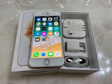🚚 IPhone 6S 玫瑰金 64g  4.7吋 (IOS:11.1.2) 原盒配件完整, 外觀漂亮無傷、完美如新、無修無重摔無泡水,所有功能正常順暢。 已貼滿版保護貼和後背殼膜 電池健康度🔋85%