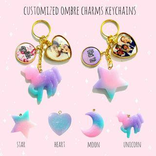 Customized ombre keychains