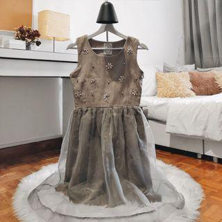 Diamanté Organza Dress