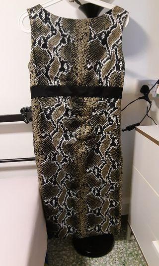Women cocktail dress in Leopard print Size S/M