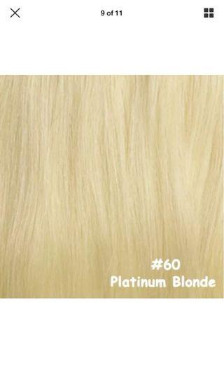 "Hair extensions beach blonde 18"" rent real hair"