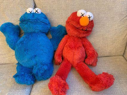 全新(有tag) Uniqlo Kaws X Sesame Street 芝麻街公仔 購自日本