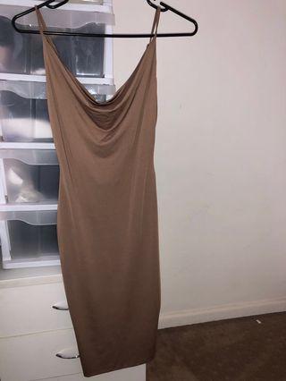 Nude strap dress