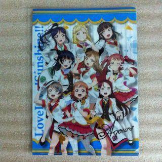 日本SEGA景品 LOVE LIVE! SCHOOL IDOL PROJECT 明星學生妹 A4 FOLDER 文件套  MADE IN JAPAN