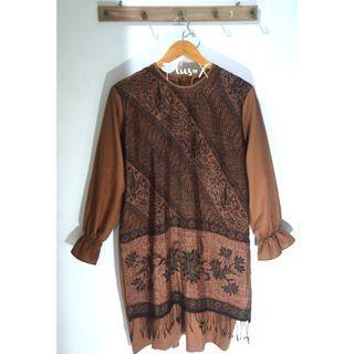 Tunik X Rompi Batik Coklat