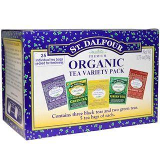 St. Dalfour Organic Tea Variety Pack 25 Tea Bags 1.75 oz (50 g)