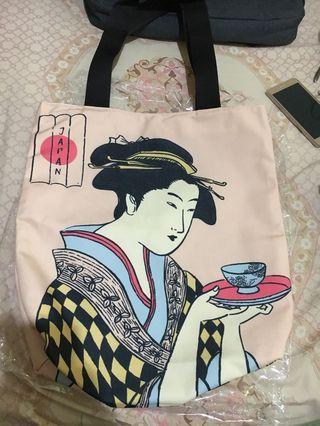 Tote Bag Japan. New. Freongkir jabodetabek