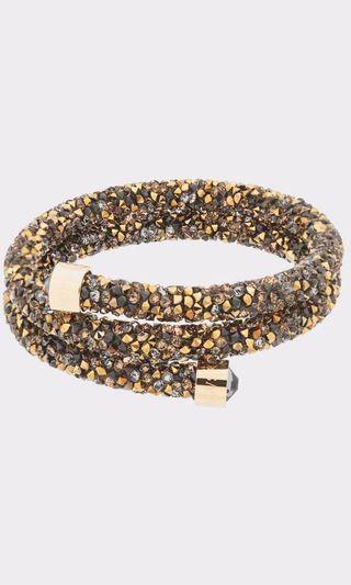 SWAROVSKI Crystaldust Double Wrap Bracelet