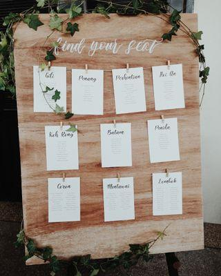 Wedding Find Your Seat board (RENTAL)